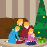 Familia de la Navidad Foto de archivo