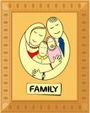 Familia feliz en marco Fotos de archivo libres de regalías