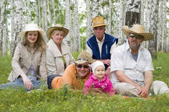 Familia feliz grande Imagen de archivo