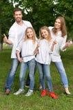 Familia feliz grande fotos de archivo