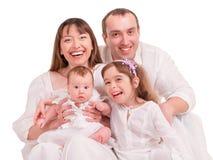 Familia feliz hermosa Imagen de archivo libre de regalías