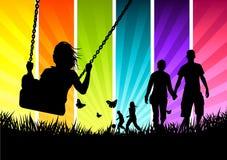Familia feliz joven libre illustration