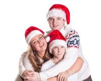 Familia feliz. La Navidad. Fotografía de archivo
