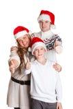 Familia feliz. La Navidad. Fotos de archivo libres de regalías