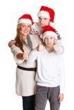 Familia feliz. La Navidad. Imágenes de archivo libres de regalías