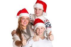 Familia feliz. La Navidad. Imagen de archivo