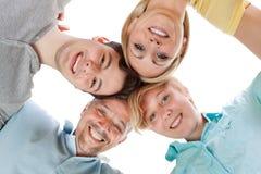 Familia feliz que mira abajo Fotografía de archivo libre de regalías