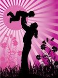Familia feliz, vector stock de ilustración