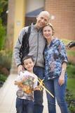 Familia feliz y afición Foto de archivo