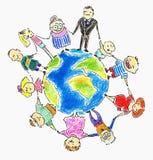 Familia global Imágenes de archivo libres de regalías