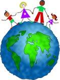 Familia global ilustración del vector