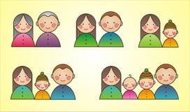 Familia grande stock de ilustración