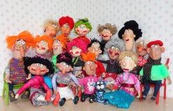 Familia grande de las marionetas Foto de archivo libre de regalías