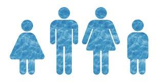 Familia hecha del agua stock de ilustración