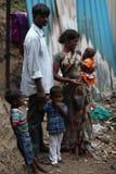 Familia india en pobreza Fotos de archivo libres de regalías