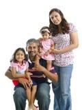 Familia india moderna feliz Foto de archivo libre de regalías