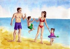 Familia joven libre illustration