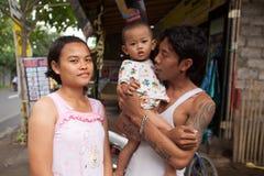 Familia joven del Balinese Imagen de archivo libre de regalías