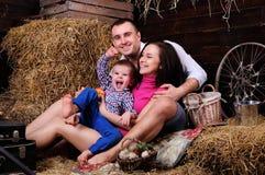 Familia joven juguetona fotografía de archivo libre de regalías