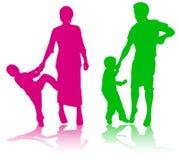 Familia junto Stock de ilustración