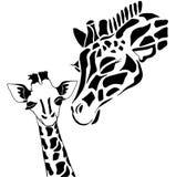 Familia linda de la jirafa stock de ilustración