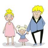 Familia, madre, padre e hija Foto de archivo libre de regalías