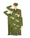 Familia militar Parientes de soldados Stirpes del ejército Fotos de archivo libres de regalías