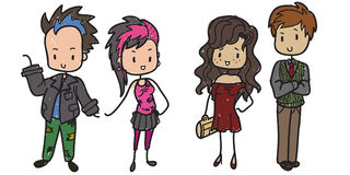 Familia moderna libre illustration