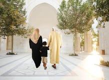 Familia oriental tradicional árabe musulmán Imagen de archivo libre de regalías