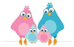 Familia-pájaros Imágenes de archivo libres de regalías