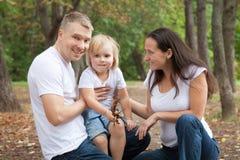 Familia a partir de tres personas Imagen de archivo libre de regalías
