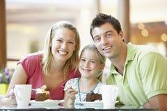Familia que almuerza junto en la alameda foto de archivo libre de regalías