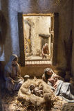 Familia que descansa después del nacimiento de Jesús Foto de archivo