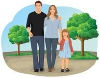 Familia que recorre Imágenes de archivo libres de regalías