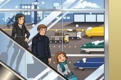Familia que va a vacation Imagen de archivo libre de regalías