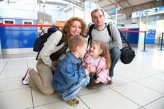 Familia que viaja imágenes de archivo libres de regalías