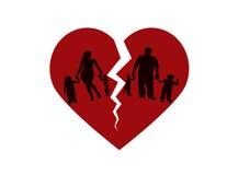 Familia quebrada Ilustración del Vector