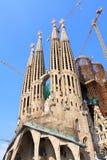 familia sagrada Ισπανία της Βαρκελώνης Στοκ Εικόνα