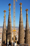 familia sagrada της Βαρκελώνης Στοκ Εικόνα