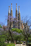 familia sagrada barcelona Стоковые Фотографии RF
