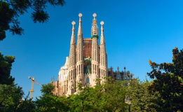 familia sagrada d'église Barcelone, Espagne Photo stock