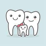 Familia sana de los dientes Imagen de archivo