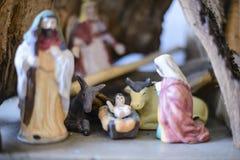 Familia santa, estatuillas de Presepe fotografía de archivo libre de regalías