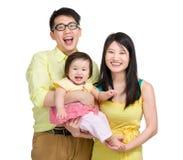 Familia sonriente imagen de archivo libre de regalías