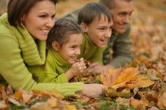 Familia sonriente feliz Foto de archivo