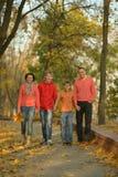 Familia sonriente feliz Fotografía de archivo