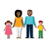 Familia tradicional multicultural Foto de archivo libre de regalías