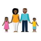 Familia tradicional multicultural Fotografía de archivo
