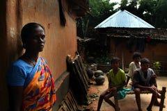 Familia tribal Imágenes de archivo libres de regalías