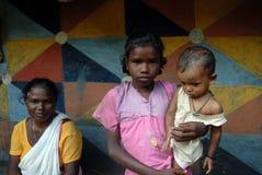 Familia tribal india Imagen de archivo libre de regalías